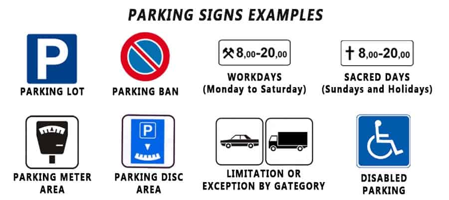 Traffic signs with meaning infographic